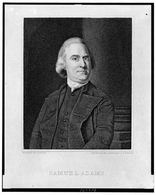 Samuel Adams, Engraving by C. Goodman & R. Piggot after painting by Copley. [Between 1810 and 1835.] Source: Library of Congress