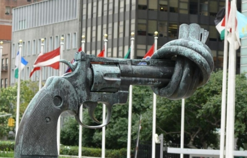 Anti-gun movement sculpture