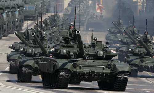 Russian Tanks on Red Square